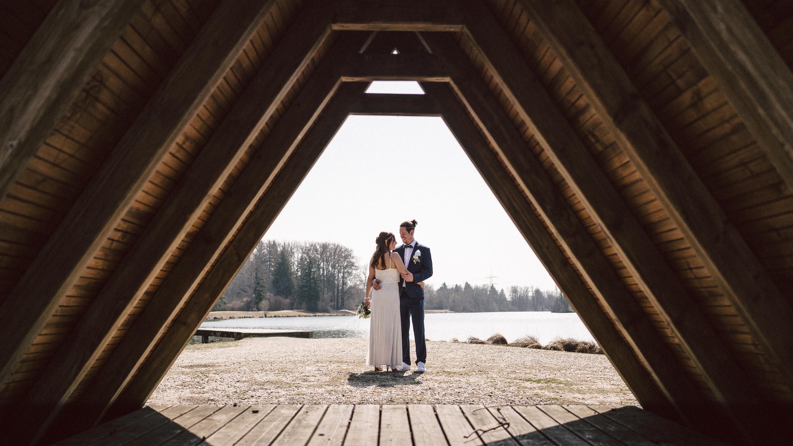 Hochzeitsfotograf Augsburg - Brautpaarshooting am Weitmannsee